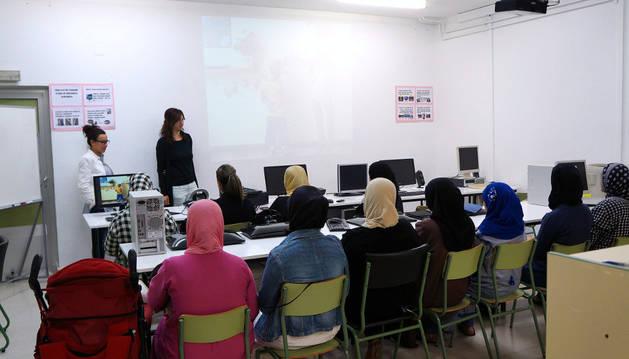 Imagen de una de las clases del proyecto educativo.