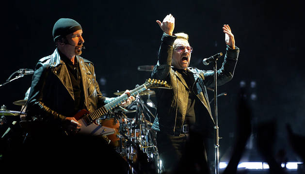 The Edge y Bono, en Berlín.