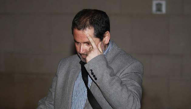 Tomás López, en la Audiencia de Pamplona.