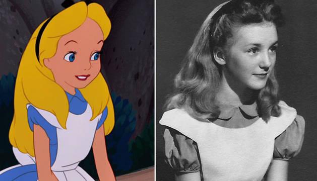 Alicia y Kathryn, la actriz que inspiró los bocetos