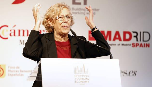 La alcaldesa de Madrid, Manuel Carmena.