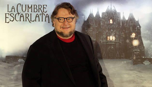 Guillermo del Toro durante la presentación de 'La cumbre escarlata'.