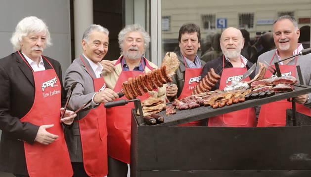 Los integrantes del grupo argentino de humor Les Luthiers.