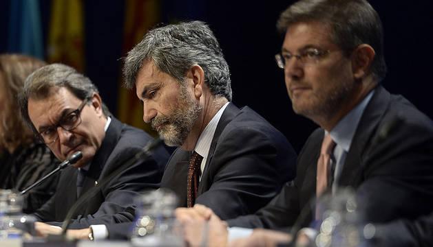 Artur Mas, Carlos Lesmes y Rafael Catalá.