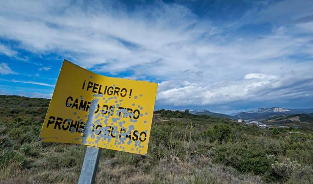 Los terrenos del llamado campo de tiro de Montejurra.