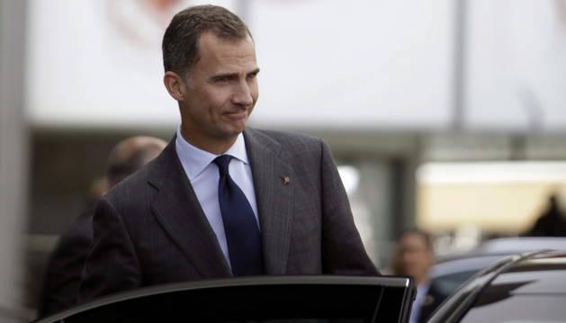 El rey Felipe tras asistir a la inauguración del CEDE.