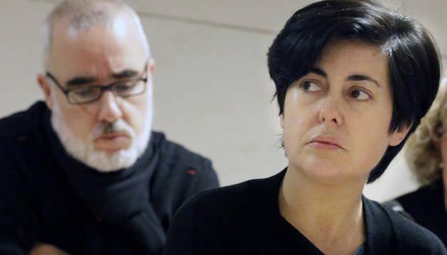 Rosario Porto y Alfonso Basterra, durante la sesión este martes del juicio.