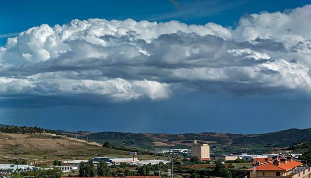 Nubes sobre Estella.