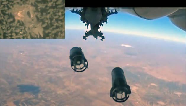 Fotografía tomada de un vídeo publicado en el sitio web del Ministerio de Defensa ruso.