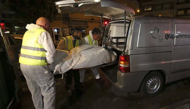 Uno de los dos cadáveres del suceso de Vigo.