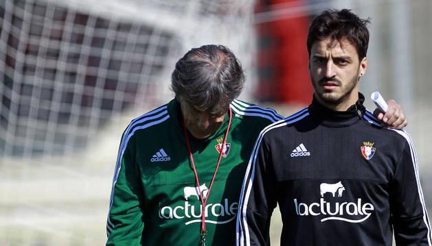 Enrique Martín, con Luis Martins.