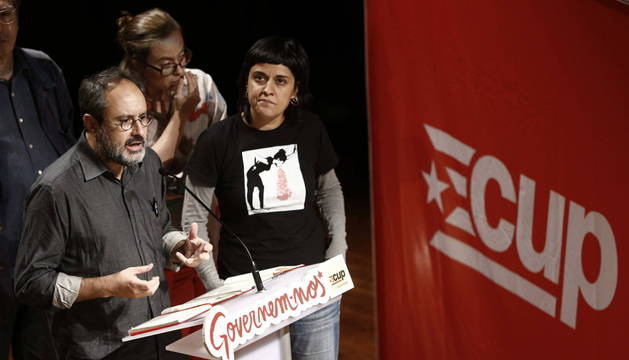 Antonio Baños, durante una rueda de prensa en Barcelona.
