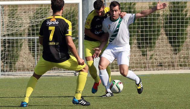 Imagen del partido Pamplona-Cirbonero, de Tercera División.
