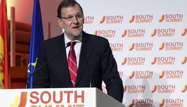 Rajoy, durante su intervención en la inauguración del South Summit 2015.