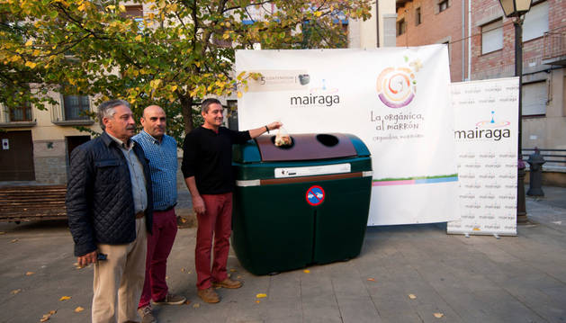 Mairaga empieza a usar el quinto contenedor para materia orgánica