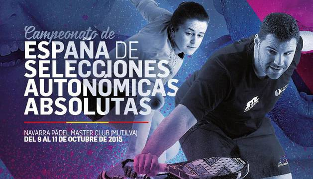 Cartel del Campeonato de España de Selecciones Autonómicas de Pádel 2015