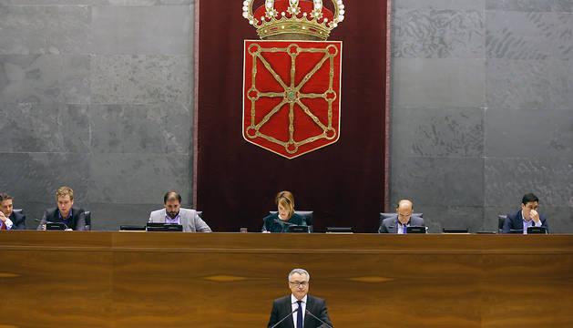 Javier Enériz, durante la presentación del Informe Anual correspondiente al ejercicio 2014.