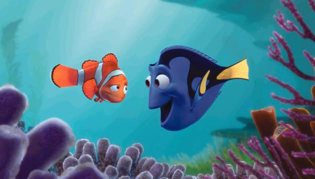 Una escena de 'Buscando a Nemo'.