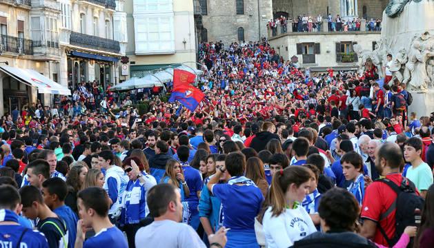 Afición de Osasuna en Vitoria