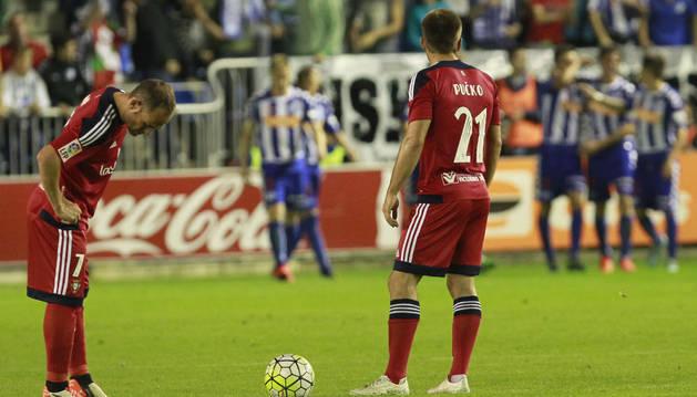 Nino y Pucko, contra el Alavés.