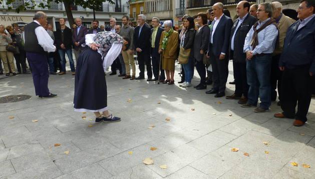 Josu Chueca recogió ayerel XV premio Manuel Irujo arropado por el nacionalismo