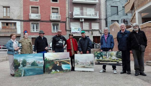 Nueve pintores optan a la mejor obra al aire libre en San Adrián
