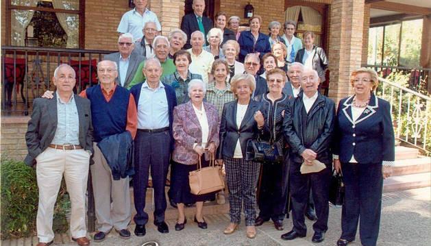 Los antiguos compañeros de 1935, juntos de nuevo en Estella