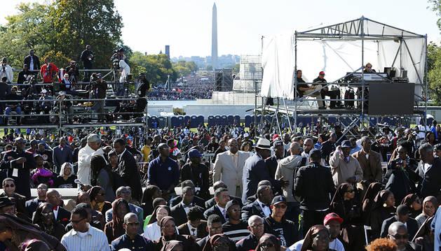 Miles de personas reclaman justicia racial en una marcha en EE UU