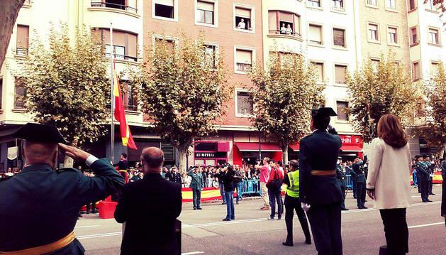 Carmen Alba, en el desfile del Día de la Guardia Civil.