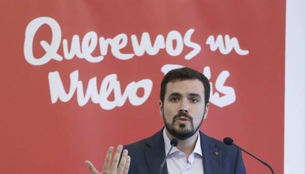 ALBERTO GARZÓN PRESENTA SU CANDIDATURA A LAS PRIMARIAS DE AHORA EN COMÚN
