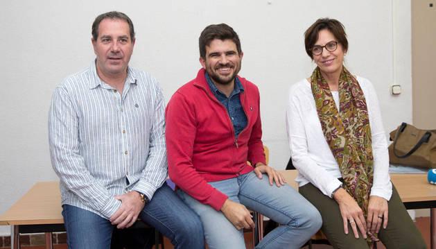 Alberto Buñuel Garnica, Abel del Rey Palacios y Margarita Sánchez Ruiz.