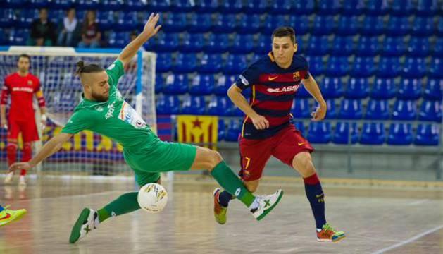 Víctor, contra el Barcelona.