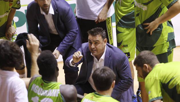 Sergio Lamúa, en el último partido contra Burgos.