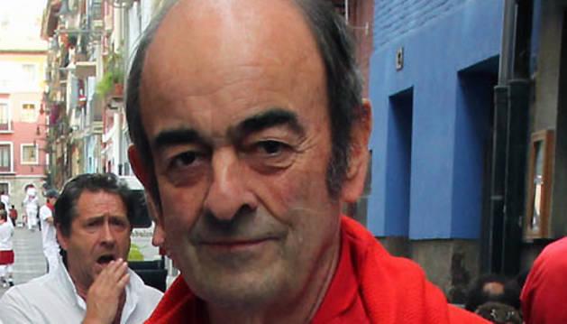Noel Chandler, en la calle de la Merced de Pamplona, en los Sanfermines de 2011.