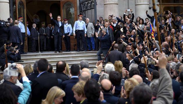 Artur Mas, a su llegada al TSJC para declarar.
