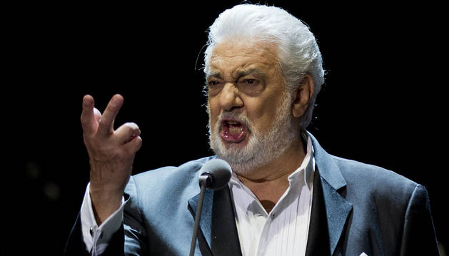El tenor Plácido Domingo.