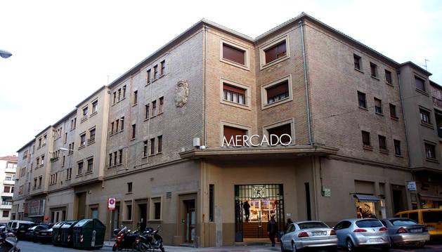 El mercado del Ensanche de Pamplona.