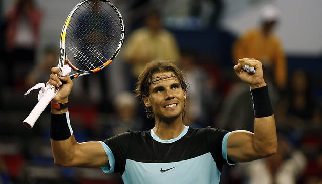 Rafael Nadal celebra su victoria ante el suizo Stanislas Wawrinka.
