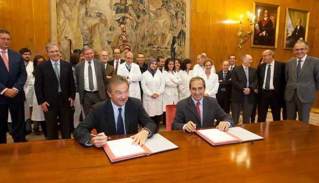 Firma del acuerdo entre Timac Agro y Universidad de Navarra