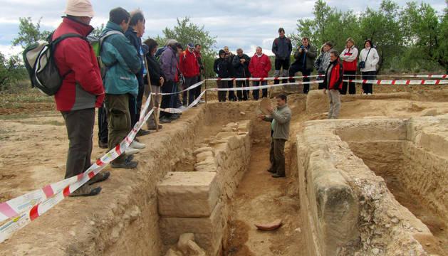 Visita guiada a las excavaciones ya realizadas en Cascante.