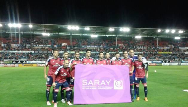 Alineación de Osasuna contra el Albacete.