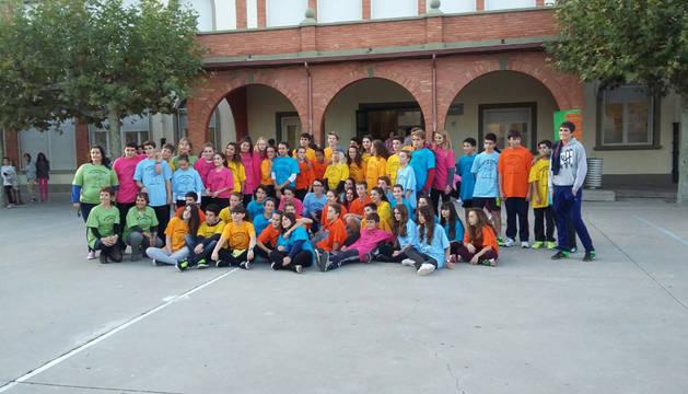 Los alumnos que participaron en el intercambio.
