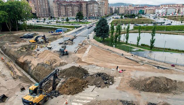 Obras de la avenida de Zaragoza el pasado mes de agosto.