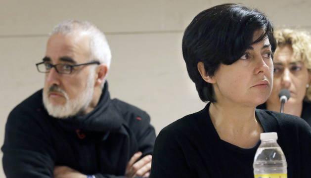 Rosario Porto y Alfonso Basterra durante el juicio.