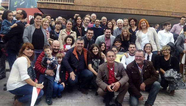 La delegación navarra del PSN, en Madrid.