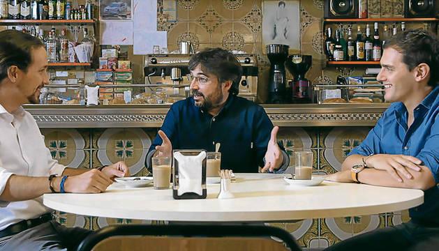 Iglesias y Rivera, durante el programa de 'Salvados'.