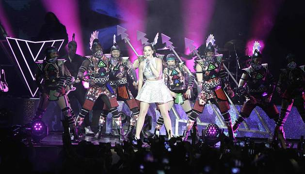 Kate Perry cierra en Costa Rica su 'Prismatic World Tour'