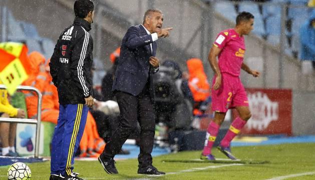 Paco Herrera, contra el Getafe.