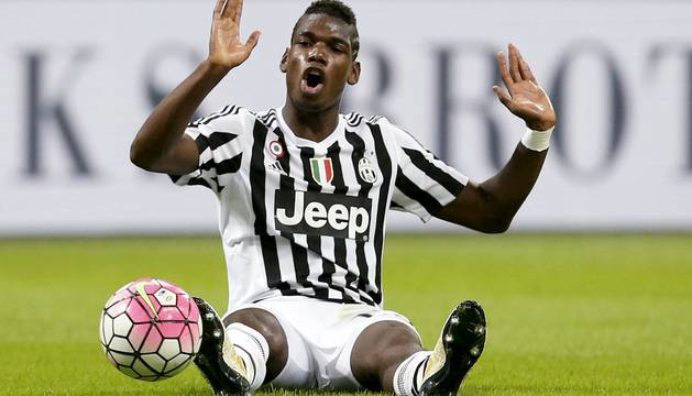 Paul Pogba, en el partido contra el Inter del Milán disputado el domingo.