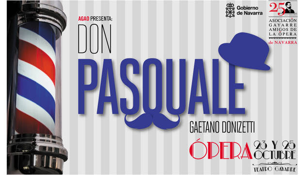 Cartel de la ópera 'Don Pasquale'.